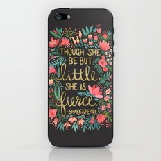 Little & Fierce on Charcoal iPhone & iPod Skin