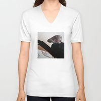black widow V-neck T-shirts featuring BLACK WIDOW by ALEX WAS HERE