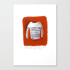 Breton Sweater Canvas Print