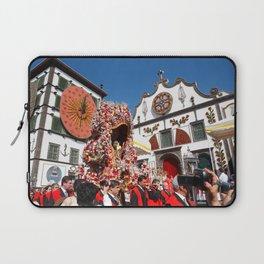 Religious festival in Azores Laptop Sleeve