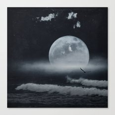 moon-lit ocean Canvas Print