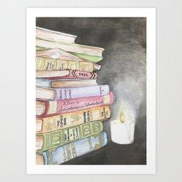 Wishlist of Vintage Books Art Print