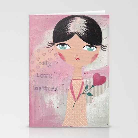 Only love matters Stationery Cards