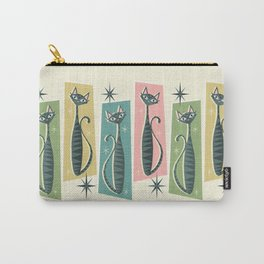 Retro Patchwork Tabbies ©studioxtine Carry-All Pouch