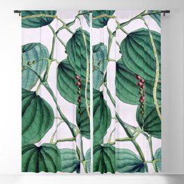 Green leaves I Blackout Curtain