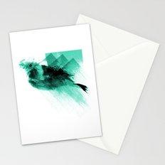 Splatter Bird Blue Stationery Cards