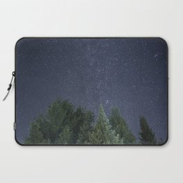 Pine trees with the northern michigan night sky Laptop Sleeve
