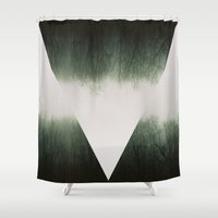fog Shower Curtains featuring Fog by Hannah Gehris
