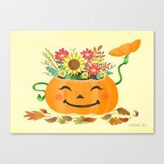 Floral Pumpkin Canvas Print