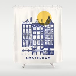 Amsterdam - City Shower Curtain