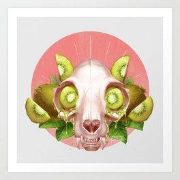 Kiwi Kitty Art Print