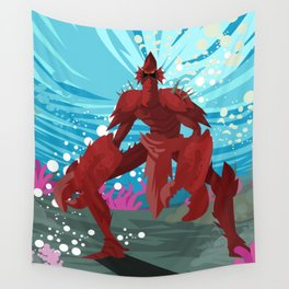 crab evil monster Wall Tapestry