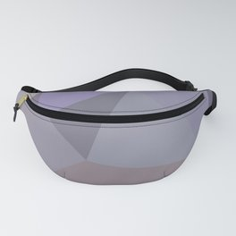 Lilac Grey Geometric Pattern - Abstract Art by Fluid Nature Fanny Pack