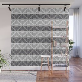 Rhombus (Gray and Blue Pattern) Wall Mural