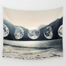 Moonlight Mountains Wall Tapestry