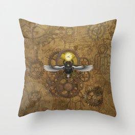 Egyptian Steampunk Throw Pillow