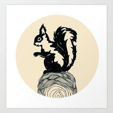 L'ecureuil Art Print