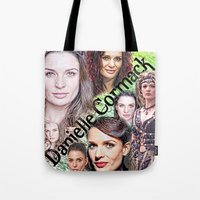 xena Tote Bags featuring Danielle Cormack by SwanniePhotoArt