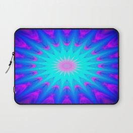Fuchsia Pink & Blue starburst Laptop Sleeve