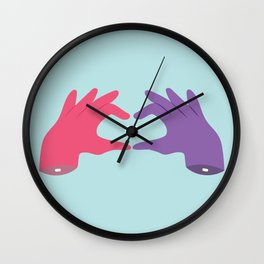 LOVE HANDS Wall Clock