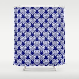 Lace heart 2 Shower Curtain