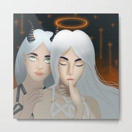 Angel & Devil Metal Print