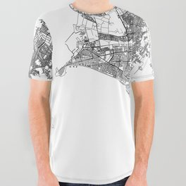 Lima White Map All Over Graphic Tee
