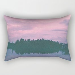Rose island sunsets Rectangular Pillow