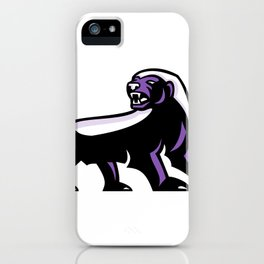 Honey Badger Full Body Mascot iPhone Case