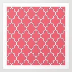 Constantine Lattice Coral Pink Art Print