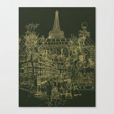 Paris! Olive Canvas Print