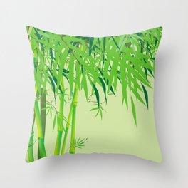 Bamboo Panda Throw Pillow