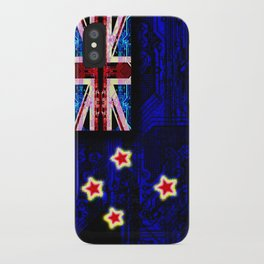 circuit board new zealand (flag) iPhone Case