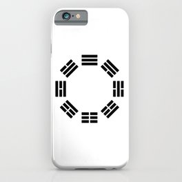 Black Hexagon I ching Feng Philosophy iPhone Case