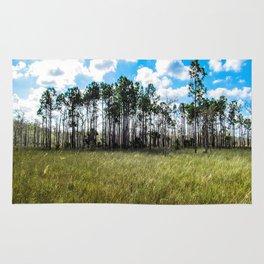 Cypress Trees and Blue Skies Rug