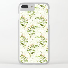 peachy serenade pattern Clear iPhone Case