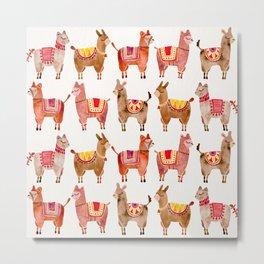 Alpacas Metal Print