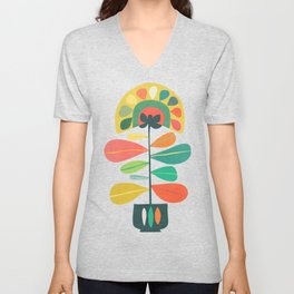 Fan Flower Unisex V-Neck