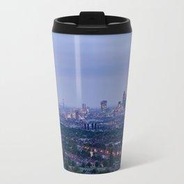 London Aerial View at Night - United Kingdom Travel Mug