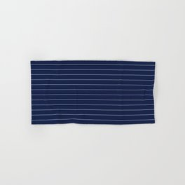 Navy Blue Pinstripe Lines Hand & Bath Towel