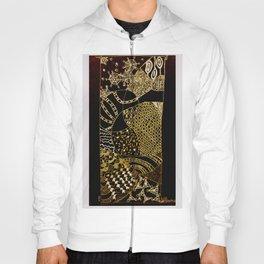 Web in Black & White & Gold Hoody