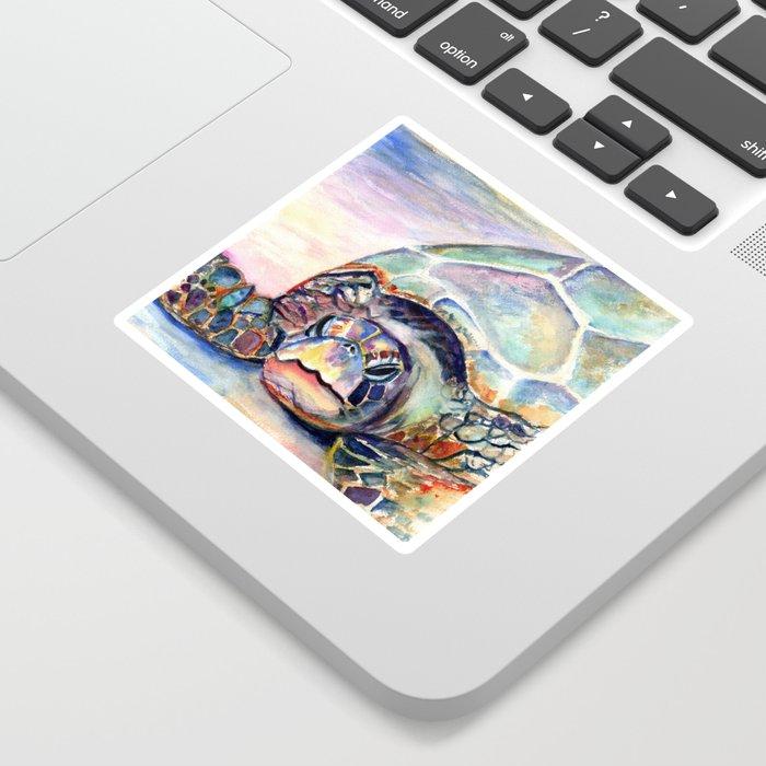 Turtle at Poipu Beach Sticker