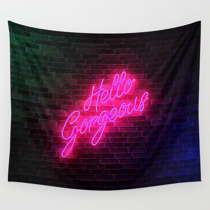 Hello Gorgeous - Neon Sign Wandbehang