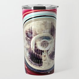 Headlight Of A Vintage Red Car Travel Mug