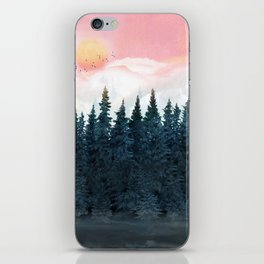 Forest Under the Sunset iPhone Skin