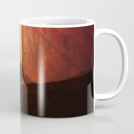 In the Distance, Trees Landscape Art Coffee Mug