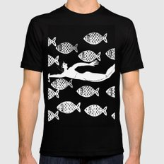 The joy of the fishes MEDIUM Black Mens Fitted Tee