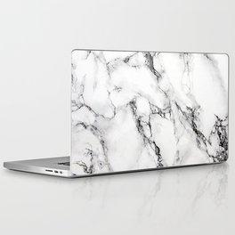 White Marble Texture Laptop & iPad Skin