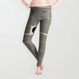Abstraction_LINE_BLACK_DOT_VISUAL_ART_Minimlism_001A Leggings
