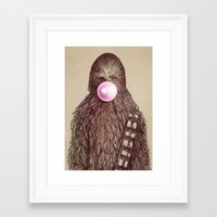 humor Framed Art Prints featuring Big Chew by Eric Fan